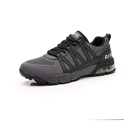 Zapatillas Running Hombre Mujer Zapatos Deporte para Correr Trail Fitness Sneakers Ligero Transpirable gray42