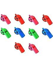 Bodhi2000® 10 szt. mini piłka nożna plastikowa gwizdek dla dzieci trening gwizdek cheerleaderka impreza zabawka arena losowy kolor