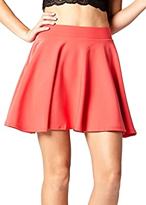 Premium Skater Skirt - High Waist A Line Skirt - Stretch Comfort
