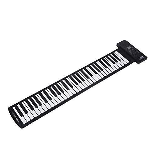 Dpofirs Roll Up Piano Keyboard, Klavier, elektronische Tastatur aus weichem Silikon, Sustain Sound für Anfänger Geburtstagsgeschenk für Kinder