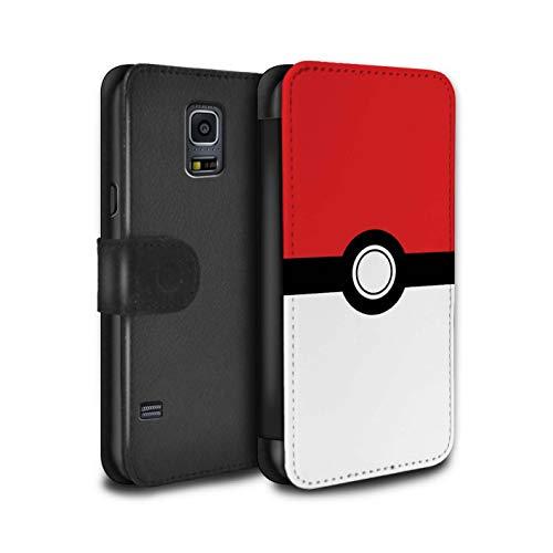 Hülle Für Samsung Galaxy S5 Neo/G903 Pokeball Anime Inspiriert Rot Design PU Leder Tasche Brieftasche Schutz Handyhülle Flip Case