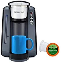 Mixpresso - Single Serve K-Cup Coffee Maker | Coffee Machine Compatible With 1.0 & 2.0 K-Cup Pods | Removable 45oz Water T...