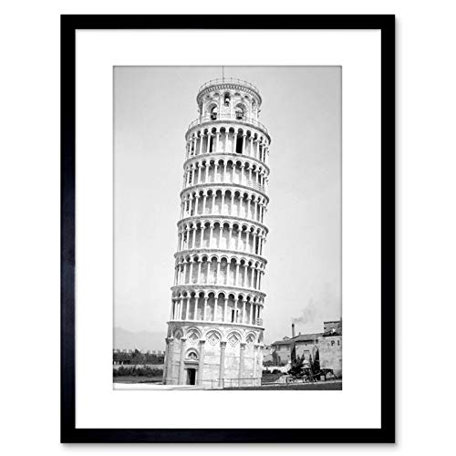 9x7 '' Photo Architectural Leaning Tower PISA Cool Framed Art Print F97X1708