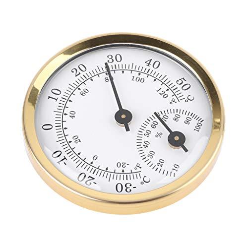 AERVEAL Termómetro analógico Interior Higrómetro Humedad Medidor de Temperatura 58 mm Hogar