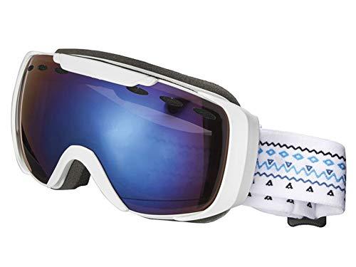 Crivit Sports Kinder Skibrille Snowboardbrille Schneebrille 100% UV-Schutz (S3 Weiß)