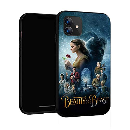 Funda para iPhone 11 Funda básica de plástico para iPhone 11 (La Bella y la Bestia)