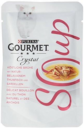 Purina Gourmet Crystal Soup para Gatos con atún y sardellellas, Paquete de 32 Unidades (32 x 40 g)
