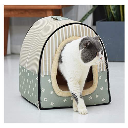 ZCNNO Abnehmbares, waschbares Haustierbett, handgefertigte Welpenbetten in modernem Design aus Mikrofaser und Flockstoff für kleine Haustiere