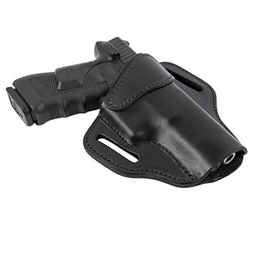 Relentless Tactical Ultimate Leather Holster 2 Slot OWB | Made in USA | for Glock 17 19 22 26 32 33 / S&W M&P Shield/Springfield XD & XDS/Plus All Similar Sized Handguns