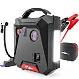 Jump Starter, 2500A Peak 24000mAh Portable Car Battery Charger with Air Compressor (All Gas or 8.0L Diesel) Emergency Auto Battery Booster with Smart USB Port