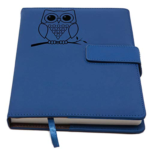 The Owl Journal | Magnetic Refillable Writing Journal, Faux Leather Journal With Lined Pages, 5 x 8 Inch, 200 Pages | Diary, Notebook, Personal Journal For Men and Women | from The Amazing Office