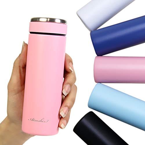 名入れ対応可 名入れ 刻印対応 スリムマグボトル 120ml 全5色 ミニボトル ミニ水筒 ポケットマグ ミニサイズ 超ミニ水筒 (ピンク, 刻印なし)