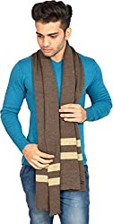 513 Mens Striped Muffler (Brown, Free Size)