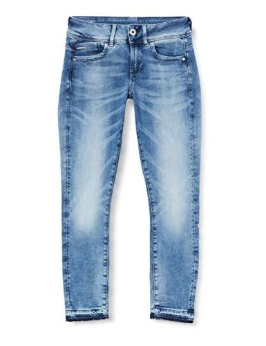 G-STAR RAW Womens Lynn Mid Skinny rp Ankle Wmn Jeans, Sun Faded Azurite C296-B471, 30W / 30L