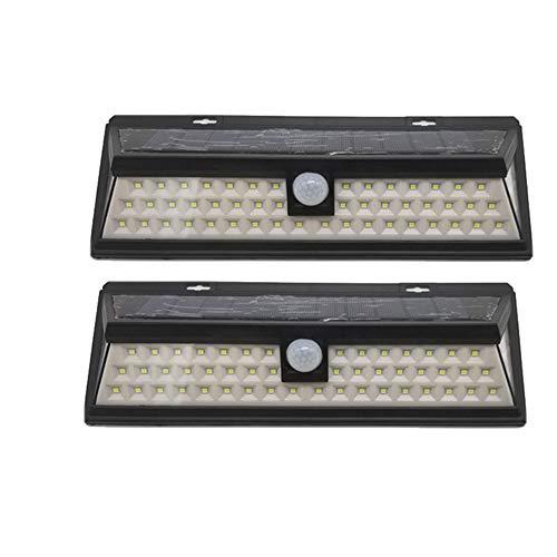 Outdoor-Solarleuchte 54 LED, Solar-Gartenstrahler, 270 ° Weitwinkel, Solarleuchte mit 3 Modi, wasserdicht, bis zu 12 STUNDEN Beleuchtung (2 Stück)