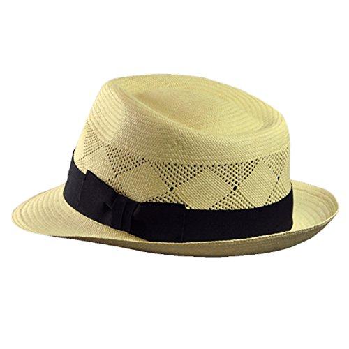 (ルジョアル) LUJOAL REAL PANAMA HAT LACE 帽子 ブランド エクアドル製 天然素材 トキア草 中折れ パナマ帽 本 パナマ ハット レース (L/Natural)