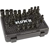 Klutch Universal Joint Impact Socket Set - 24-Pc. 1/2in. Drive, SAE/Metric