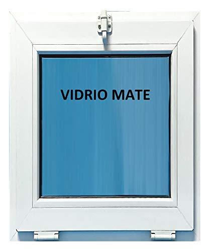 ECO-BLU V07M Ventana Pvc Baño 500x600 Golpete Abatible Clim