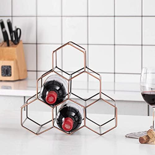 BGHDIDDDDD Estante organizador de vino con 6 botellas y soporte para vino, protector de espacio para encimera, soporte para bares, restaurantes, cocinas, B