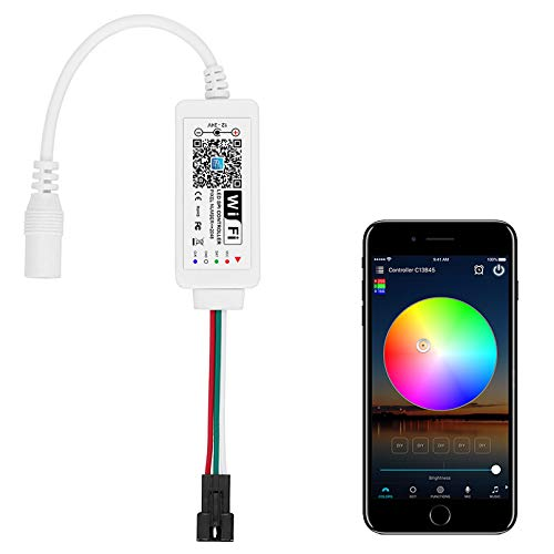 ALITOVE WS2811 Controller Smart WiFi APP Sprachsteuerung, unterstützt Amazon Alexa Google Home, für DC12V ~ 24V WS2811 SM16703 UCS1903 RGB LED Streifen LED Pixel Lichterkette