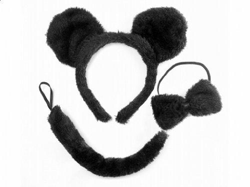 Maus- Set Kostüm Karneval Fasching 3-teilig