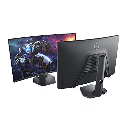 Dell S2721HGF, 27 Zoll, Gaming Monitor, Curved, Full HD 1920x1080, 144Hz, 1ms, VA entspiegelt, 16:9, NVIDIA G-SYNC, höhenverstellbar, HDMI, DP, 3 Jahre Austauschservice, schwarz