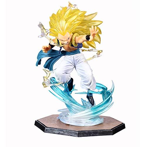 Yzoncd Dragon Ball Z Son Goku Gotenks Triple Kaiouken Kamehameha Battle Ver.Figura De Accion PVC Toy Dragonball Z Figura 16Cm