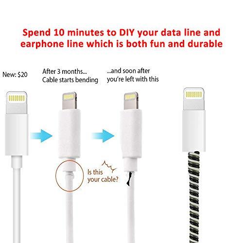 Zoeast Kabelschutz für iPhone 11 / 12 Pro Max Mini etc., 18 W / 20 W, USB Kabel
