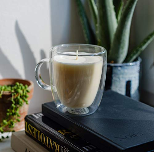 Maxxo Escential Kaffee Kerzen im Doppelwandige Glas 100% natürliche Sojawachs Candle Duftkerzen Coffee Geschenk