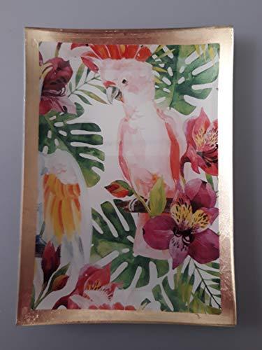 Gift Company Glasteller Birds Bunt 10X0,8X14,2Cm