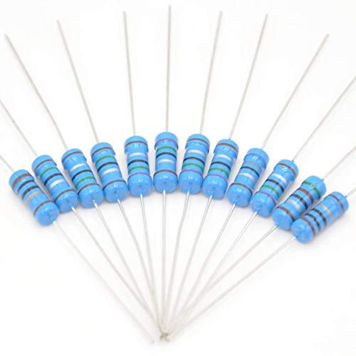 Cutequeen 134 Values 1% 3350 pcs RoHS Compliant Resistor Kit x 25pcs =3350 pcs (0 Ohm - 4.7M Ohm) 1/4W Metal Film Resistors Assortment