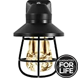 GE Vintage LED Night Light, Plug-in, Dusk-to-Dawn, Farmhouse Décor, Rustic, UL Listed, Ideal for Bedroom, Nursery, Kitchen, Bathroom, Black Cage, 38628, 1 Pack