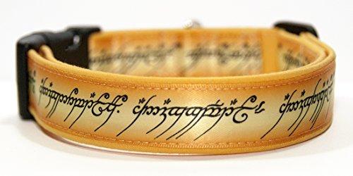 MasTazas The Lord of The Rings Handgemachte Hundehalsband Handmade Dog Collar Größe M
