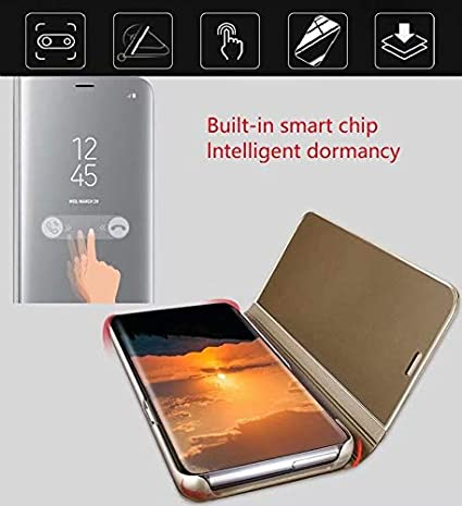 +3D Glass Screen Protectors//Ultra Thin Clear View Cover Flip Kickstand Frame Stand Mobile Phone Case for Galaxy S20 FE-2020 XJZ Compatible with Samsung Galaxy S20 FE Smartphone Case Rose Gold