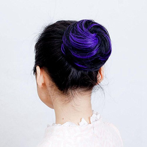 Longless Mesdames Hairpumps Perruques Cheveux Buns Boules de Couleur Perruques Têtes Flush bouffées Plaisir du Vrai Circle