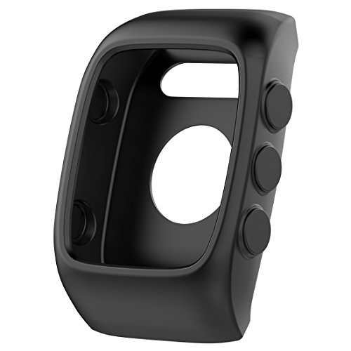 MOTONG Silicone Protective Case Cover Shell for Polar M400 M430 (Silicone Black)