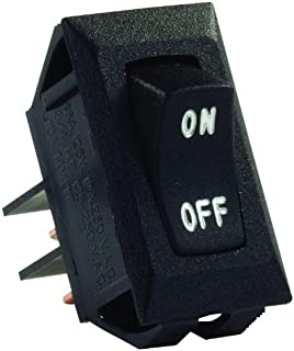 JR Products 12595 Black SPST Labeled On/Off Switch