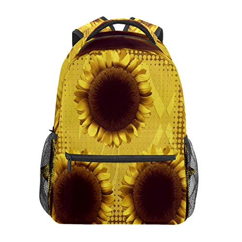 Sunflower Yellow Blossom Business Laptop Backpack Travel Hiking Camping Daypack College Bookbag Large Diaper Bag Doctor Bag School Backpack Water Resistant Anti-Theft for Women&Men