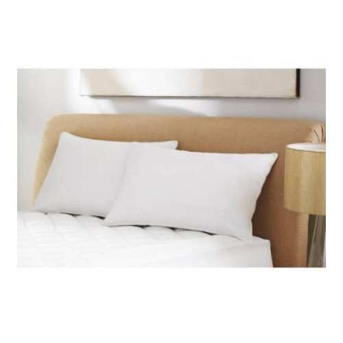 mainstays pillow side sleepers Mainstays Microfiber 2-pk Pillow, White, Standard (1)