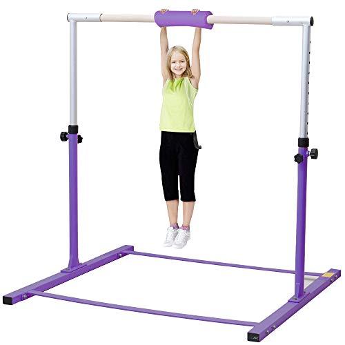 Warmiehomy Gymnastics Horizontal Bars Adjustable...