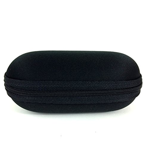 """5"""" Zippered Padded Pouch Hard Carrying Case Protective Glass Storage for Pipes (Black)"""