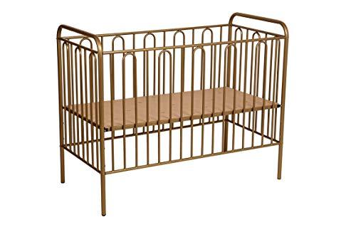 Kinderbett Gitterbett Kinderbett aus Metall Polini Vintage 110 bronze