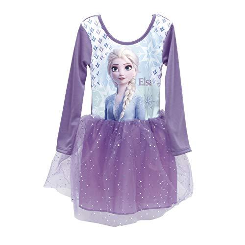 Frozen Kleid Sommerkleid Ballettkleid Mädchenkleid Langarm Die Eiskönigin Anna Elsa Olaf Sven (4 Jahre)