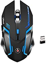 Offbeat RIPJAW 2.4Ghz Rechargeable Wireless Gaming Mouse, Silent Click Buttons Mouse - 7D Buttons, DPI : 1600,2400,3200, M...