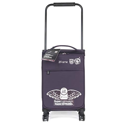 ZFrame SH22283818DWPURMIL 18 Inch Small 4 Double Wheel Super Lightweight Cabin Suitcase, Retractable Handle, 1.98 kg, 30 Litre, Purple