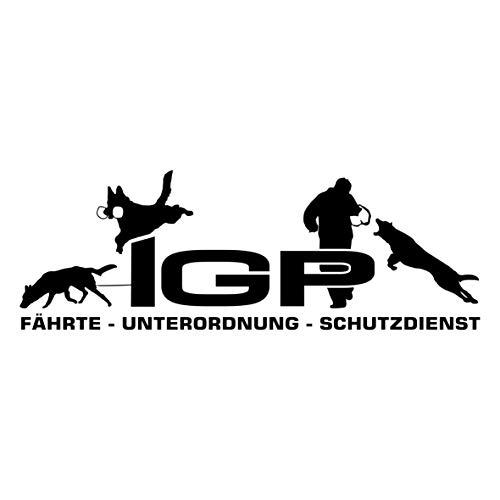 Siviwonder Auto Aufkleber IGP Deuscher Schäferhund Autoaufkleber K9 Hundeanhänger ehemals IPO Hundesport Hundemotiv schwarz