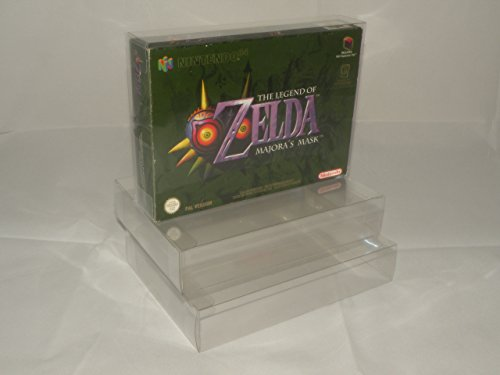 TribeRetro Pack of 10 x Nintendo N64 SNES Box Protectors - Maintain Your Retro Collection! - 0.3mm PET