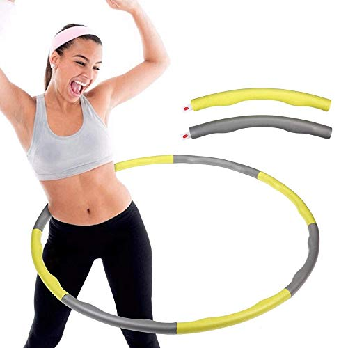 WXH-00 Falten des Hula-Reifens, der Gewichtung des Hula-Reifens um 100 cm, geeignet für Junge Menschen und Damen, um die heiße Fitness zu tanzen und zu Treiben