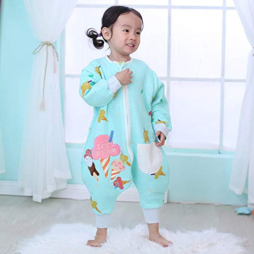 HS-01 Afneembare slaapzak voor kinderen om te voorkomen dat je trappen, baby-siamese slaapzak, dubbele ritssluiting katoen slaapzak