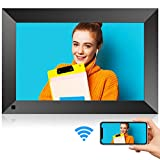 10 Inch WiFi Digital Picture Frame with HD Touch Screen, Motion Sensor, 16GB Storage, Digital Photo Frame with IPS HD Display, Auto-Rotate, Share Pictures via App, E-Mail, Micro USB, No Monthly Fee